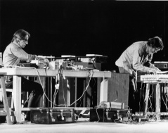 John Cage (right) with David Tudor at Shiraz Arts Festival 1971